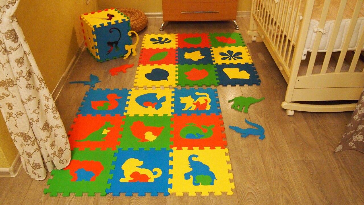Мягкий пол пазл - коврик для детей