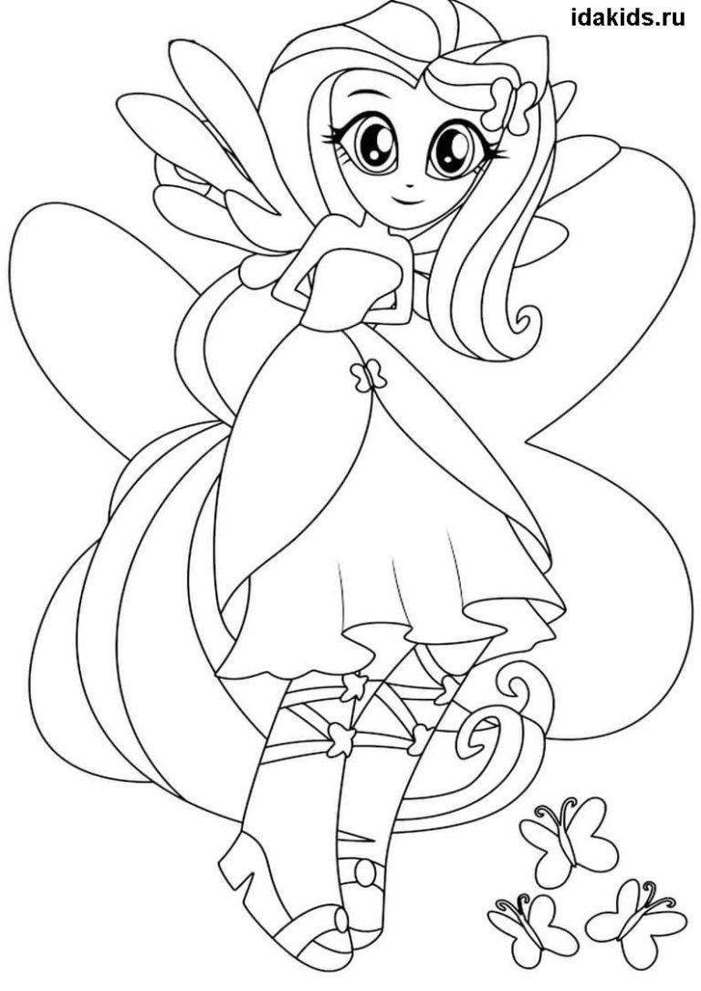 Раскраска Девочки из Эквестрии Барабанщица