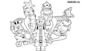 Раскраска Ниндзяго Лего Муви распечатать