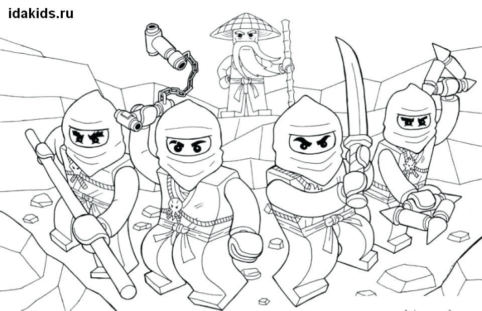 Раскраска Ниндзяго Лего Ниндзя Го: распечатать бесплатно
