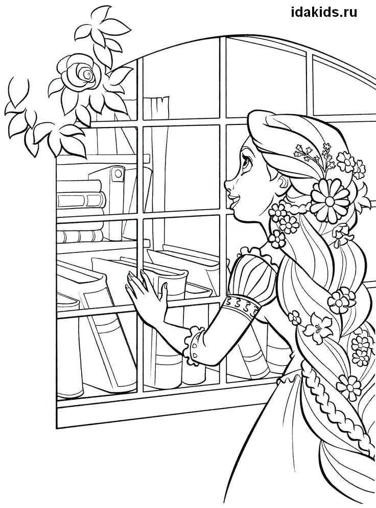раскраски рапунцель принцесса распечатать бесплатно в