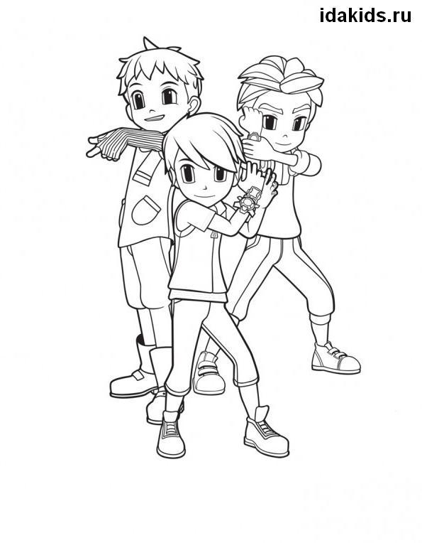 Раскраска Тоботы Герои общие мальчики