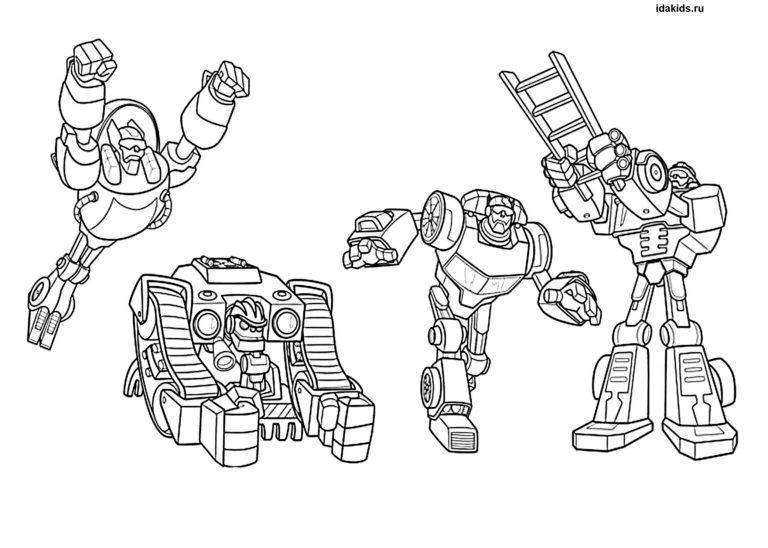 Раскраска Трансформеры большая подборка роботов