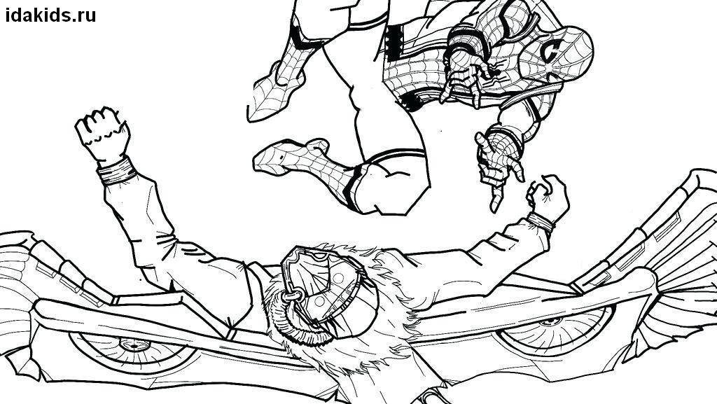 Раскраска Человек паук: распечатать бесплатно ТОП 30 картинок