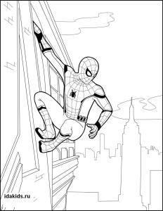 Раскраски Человек паук Возвращение домой