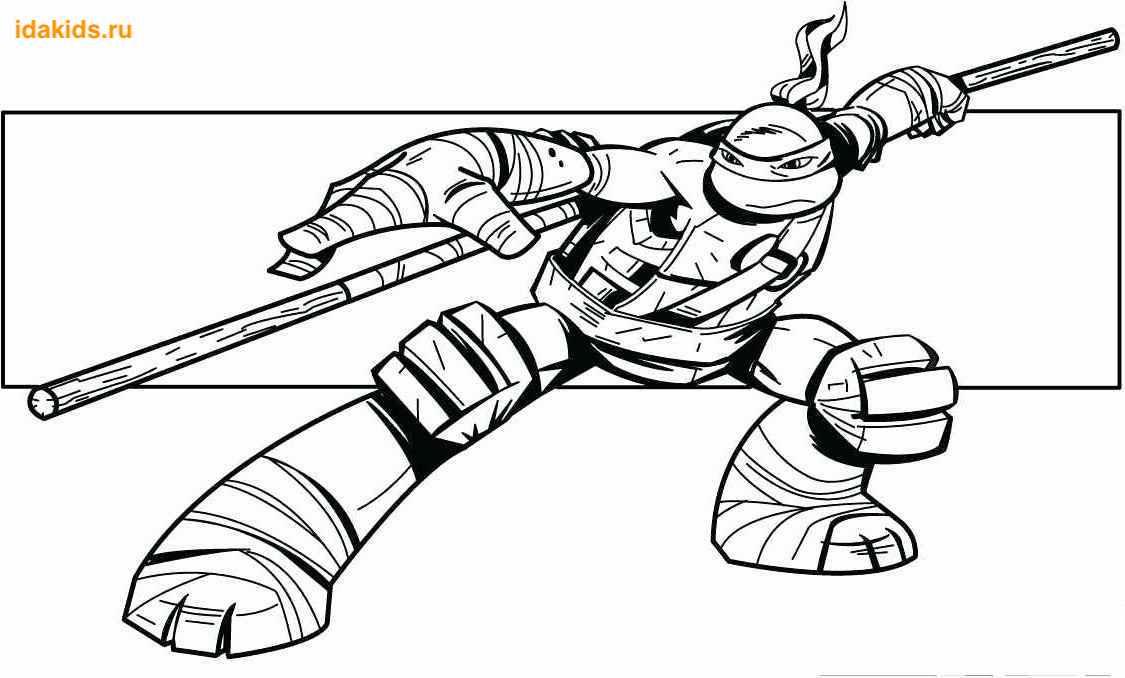 Раскраска черепашки ниндзя: распечатать скачать бесплатно ...