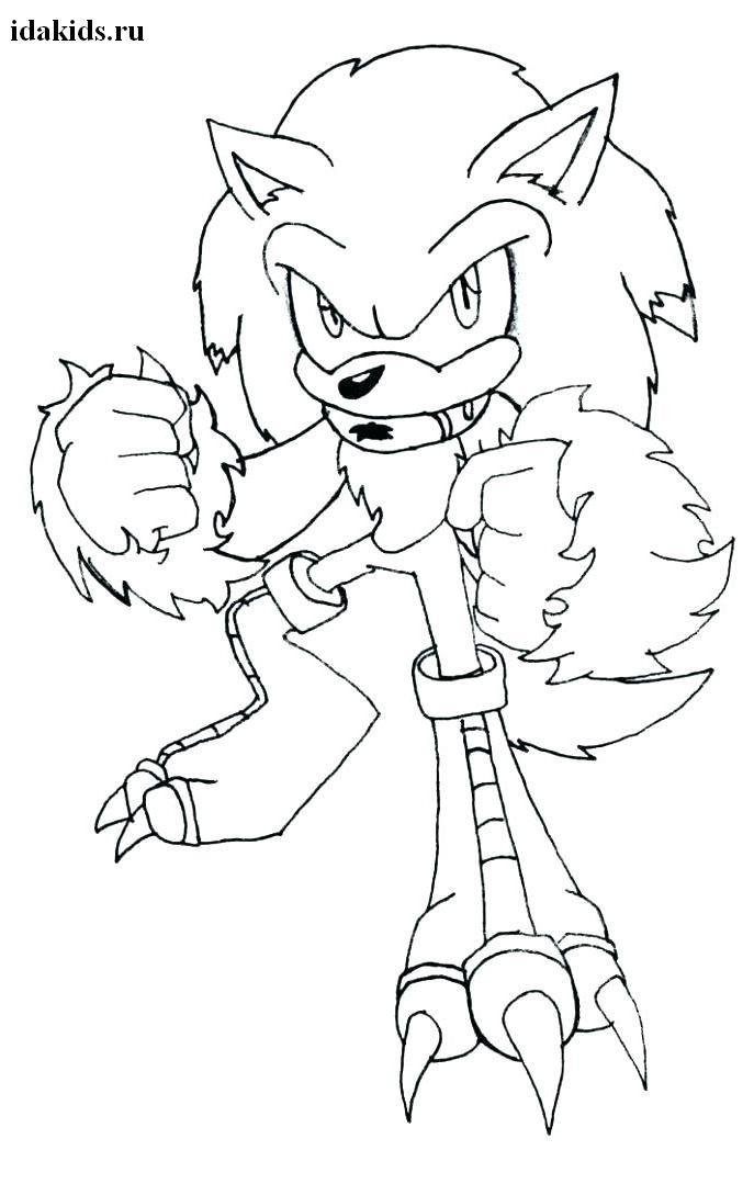 Раскраска Sonic Boom Ехидна Наклз дерется