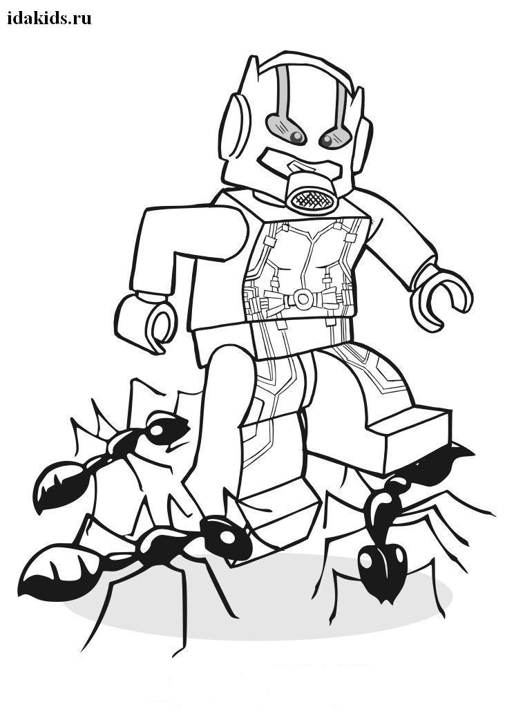 Раскраски Человек Муравей Лего и муравьи