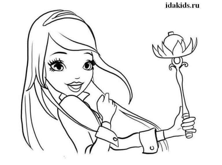 Раскраски Королевская Академия Роуз Золушка и волшебный скипетр