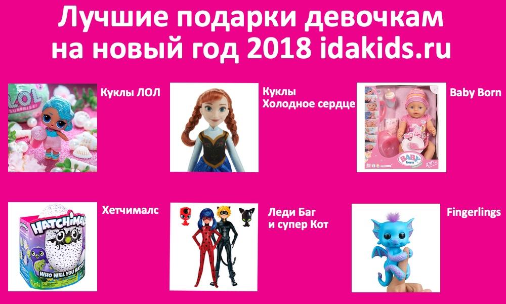 Подарки девочкам на новый год