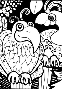 Birds - Free printable Coloring pages for kids4