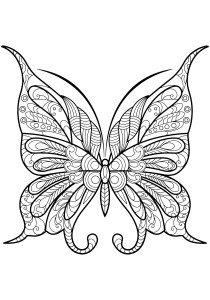 Butterflies - Free printable Coloring pages for kids14