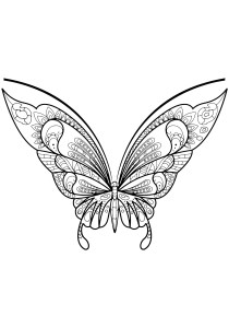 Butterflies - Free printable Coloring pages for kids16
