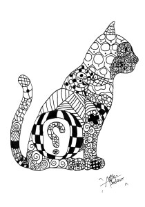Cats - Free printable Coloring pages for kids10