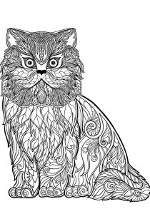 Cats - Free printable Coloring pages for kids0