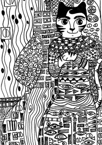 Cats - Free printable Coloring pages for kids17