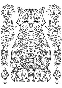 Cats - Free printable Coloring pages for kids5