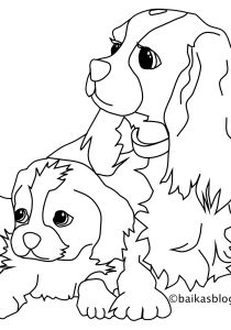 Dogs - Free printable Coloring pages for kids18