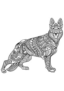 Dogs - Free printable Coloring pages for kids10