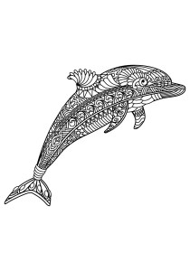Dolphins - Free printable Coloring pages for kids1