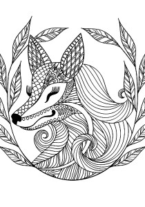 Fox - Free printable Coloring pages for kids1