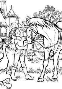Horses - Free printable Coloring pages for kids8