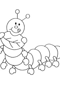Insects - Free printable Coloring pages for kids5