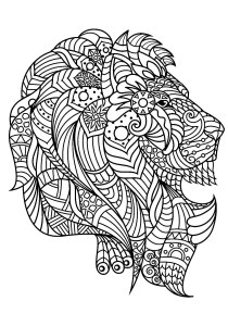Lion - Free printable Coloring pages for kids0