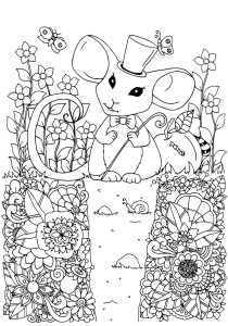 Mouse - Free printable Coloring pages for kids0
