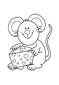 Mouse - Free printable Coloring pages for kids11
