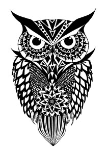 Owls - Free printable Coloring pages for kids10