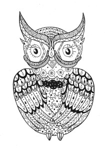 Owls - Free printable Coloring pages for kids2