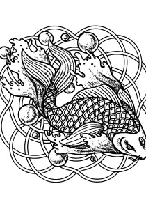 Pisces - Free printable Coloring pages for kids11