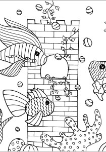 Pisces - Free printable Coloring pages for kids0