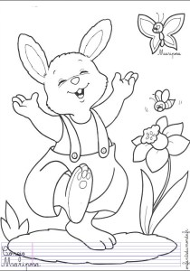 Rabbit - Free printable Coloring pages for kids0