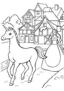 Unicorns - Free printable Coloring pages for kids17