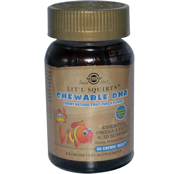 Жевательные капсулы Solgar, Children's chewable DHA