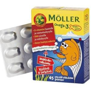 Жевательные гелиевые таблетки Moller Omega-3 Pikkukalat