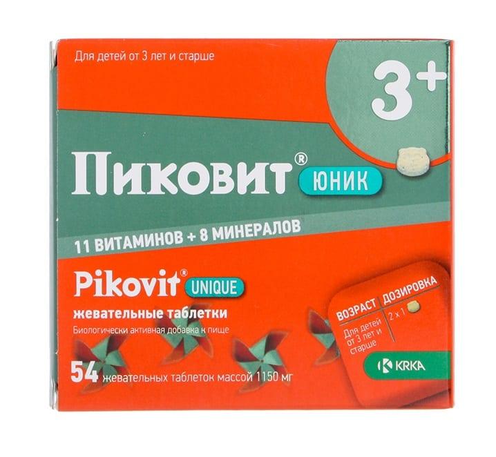 Жевательные витамины Пиковит Юник