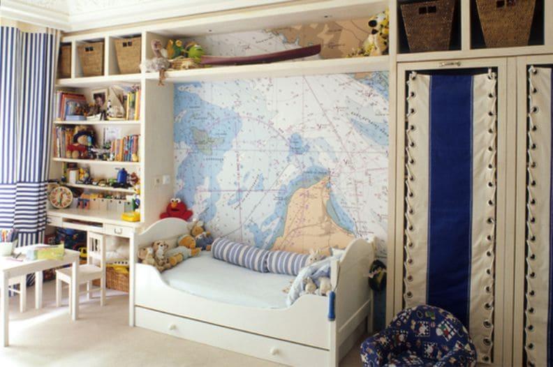 Детский интерьер в морском стиле