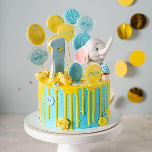 Красивый детский торт