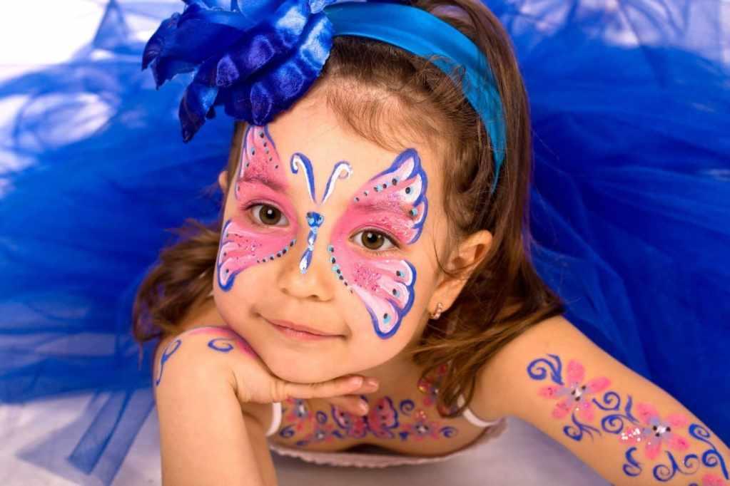 Детский макияж на Хэллоуин фото