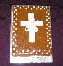 First Holy Communion cake with the famous caramel frosting