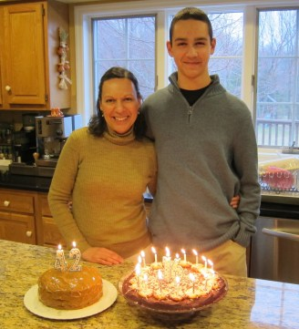 Two cakes for my oldest and I whose birthdays are 3 days apart