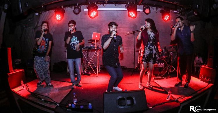 Voctronica_five_member_team_performing_live
