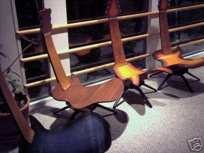 Insolite La Chaise Guitare Imitation Gibson Les Paul