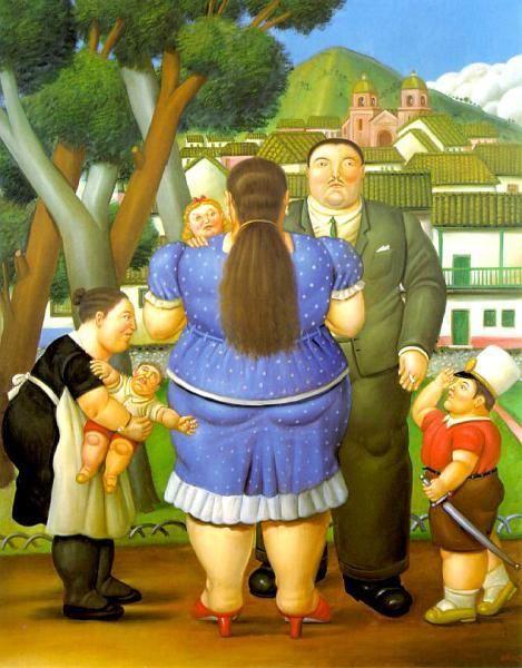 ritratto di famiglia in un esterno (Fernando Botero)