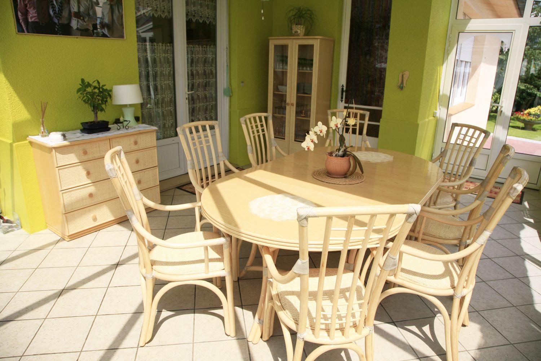 mobilier en rotin pour la veranda
