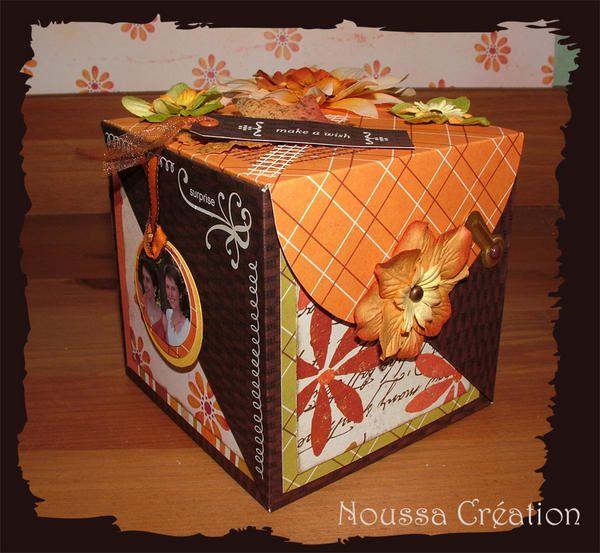 Boite Cube Scrap Et Dco Le Blog De Scrap De Noussa