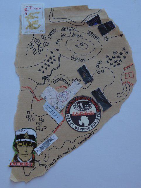 carte voyage imaginaire